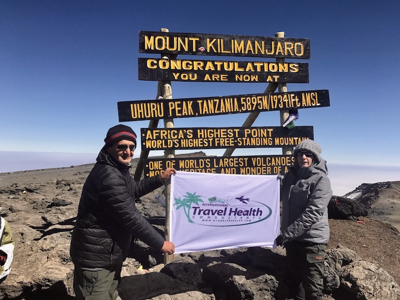 dr narula of travel clinic NYC reaches top of Mount Kilimanjaro