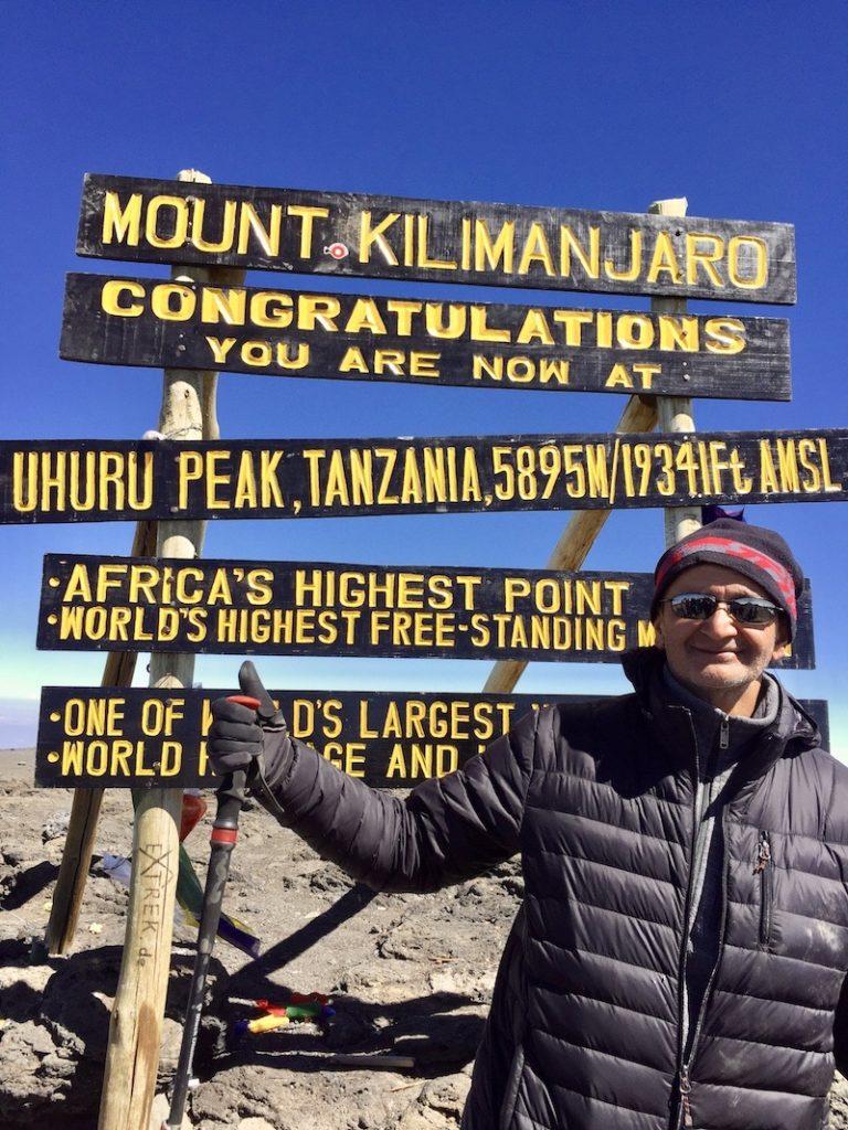dr narula climbs mount Kilimanjaro